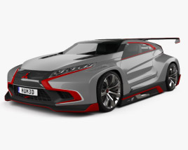 3D model of Mitsubishi XR-PHEV Evolution Vision Gran Turismo 2016