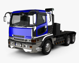 Mitsubishi Fuso Super Great (FP) Tractor Truck 1996 3D model