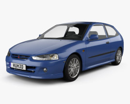 3D model of Mitsubishi Colt 3-door hatchback 1998