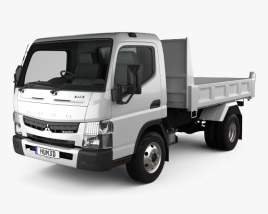 3D model of Mitsubishi Fuso Canter Tipper Truck 2010