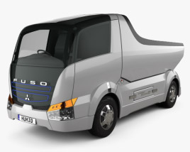 3D model of Mitsubishi Fuso Canter Eco D Hybrid Truck 2007