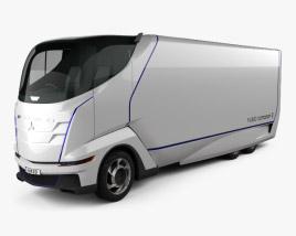 3D model of Mitsubishi Fuso Concept II Truck 2012