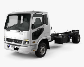 3D model of Mitsubishi Fuso Heavy Chassis Truck 2017