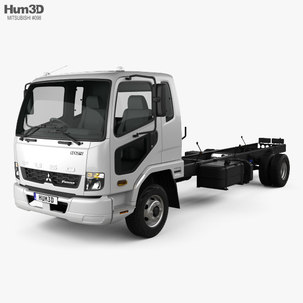 Mitsubishi Fuso Fighter (1024) Chassis Truck 2017 3D model