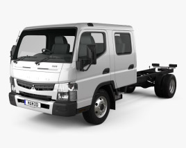 3D model of Mitsubishi Fuso Canter 815 Wide Crew Cab Chassis Truck 2016