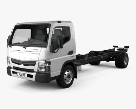 3D model of Mitsubishi Fuso Canter 918 Wide Single Cab Chassis Truck 2016