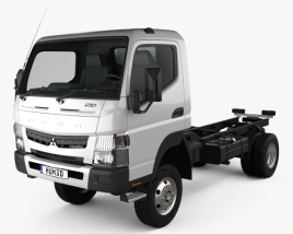 3D model of Mitsubishi Fuso Canter FG Wide Single Cab Chassis Truck 2016