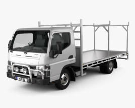 3D model of Mitsubishi Fuso Canter 515 Wide Single Cab Absolute Access Truck 2016