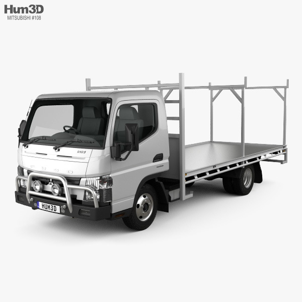 Mitsubishi Fuso Canter 515 Wide Single Cab Absolute Access Truck 2016 3D model