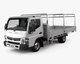 3D model of Mitsubishi Fuso Canter 515 Wide Single Cab Alloy Tray Truck 2016