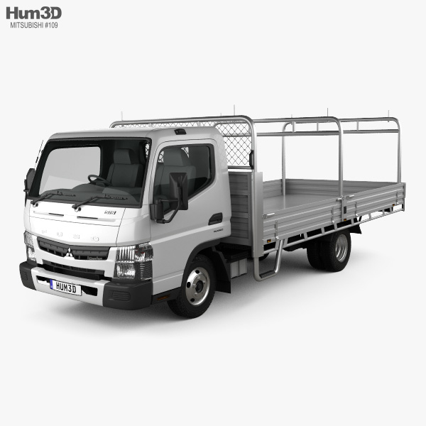 Mitsubishi Fuso Canter 515 Wide Single Cab Alloy Tray Truck 2016 3D model