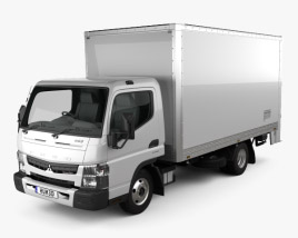 3D model of Mitsubishi Fuso Canter 515 Wide Single Cab Pantech Truck 2016