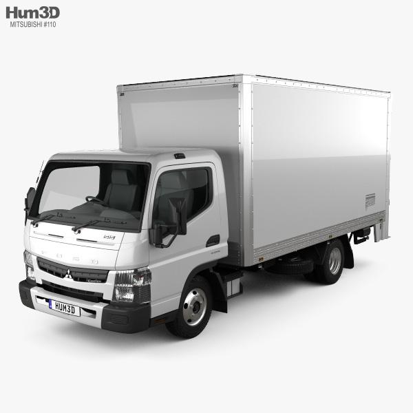 Mitsubishi Fuso Canter 515 Wide Single Cab Pantech Truck 2016 3D model