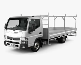 3D model of Mitsubishi Fuso Canter 515 Wide Single Cab Tradies Truck 2016