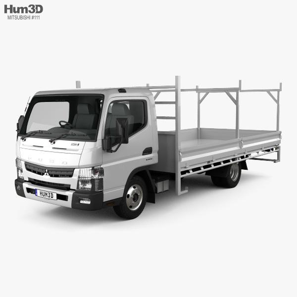 Mitsubishi Fuso Canter 515 Wide Single Cab Tradies Truck 2016 3D model