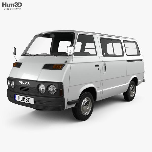3D model of Mitsubishi Delica Coach 1974