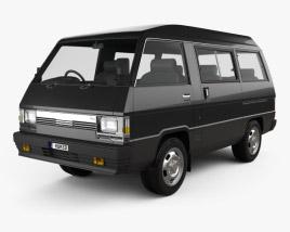 3D model of Mitsubishi Delica Star Wagon 4WD GLX 1982