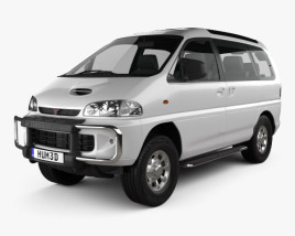 3D model of Mitsubishi Delica Space Gear 4WD 1994