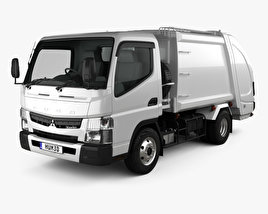 3D model of Mitsubishi Fuso Canter Shinmaywa Garbage Truck 2017