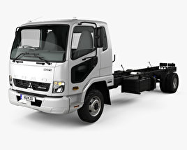 3D model of Mitsubishi Fuso Fighter Chassis Truck with HQ interior 2017