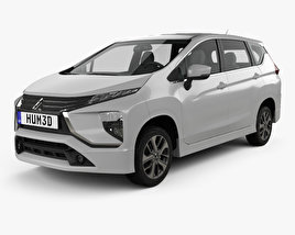 3D model of Mitsubishi Xpander Sport 2017