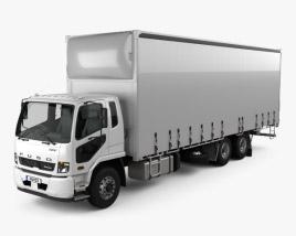 Mitsubishi Fuso Fighter Curtainsider 14 Pallet Truck 2017 3D model