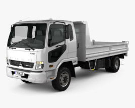 3D model of Mitsubishi Fuso Fighter Tipper Truck 2017