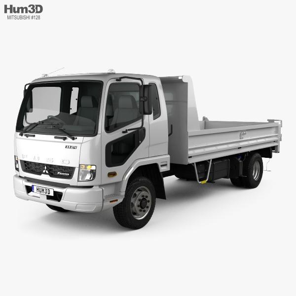 Mitsubishi Fuso Fighter Tipper Truck 2017 3D model