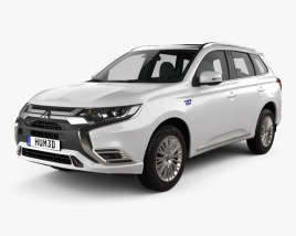 3D model of Mitsubishi Outlander PHEV 2018