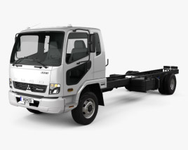 3D model of Mitsubishi Fuso Fighter (1227) Chassis Truck 2017