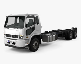 3D model of Mitsubishi Fuso Fighter (2427) Chassis Truck 2017