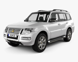 3D model of Mitsubishi Pajero 5-door CN-spec 2018