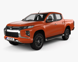 3D model of Mitsubishi Triton Double Cab 2019