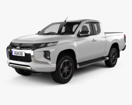 3D model of Mitsubishi Triton Club Cab 2019