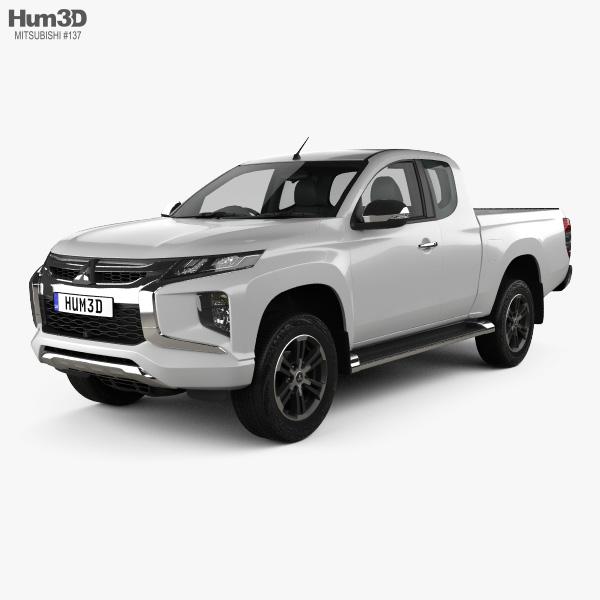 Mitsubishi Triton Club Cab 2019 3D model