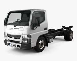 3D model of Mitsubishi Fuso Canter (515) City Single Cab Low Roof Chassis Truck 2016