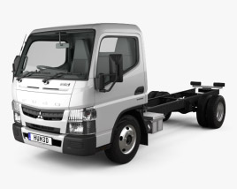 3D model of Mitsubishi Fuso Canter (515) Super Low City Cab Chassis Truck with HQ interior 2016