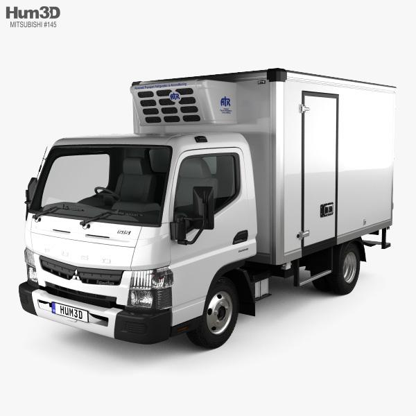 Mitsubishi Fuso Canter (515) Wide Single Cab Refrigerator Truck 2016 3D model