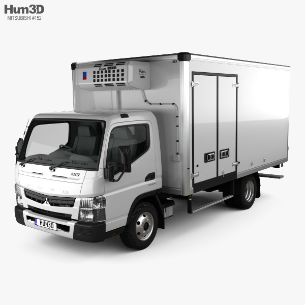Mitsubishi Fuso Canter (918) Wide Single Cab Refrigerator Truck 2016 3D model