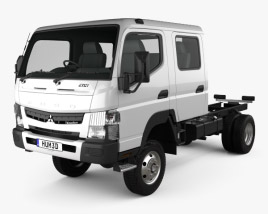 3D model of Mitsubishi Fuso Canter (FG) Wide Crew Cab Chassis Truck 2016