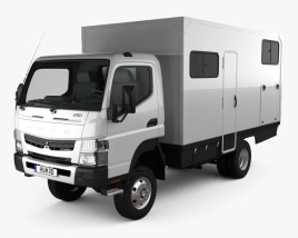 3D model of Mitsubishi Fuso Canter (FG) Wide Single Cab Camper Truck 2016