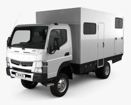 3D model of Mitsubishi Fuso Canter (FG) Wide Single Cab Camper Truck 2016