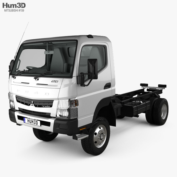 Mitsubishi Fuso Canter (FG) Wide Single Cab Chassis Truck with HQ interior 2016 3D model