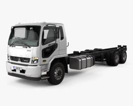 3D model of Mitsubishi Fuso Fighter (2427) Chassis Truck with HQ interior 2017