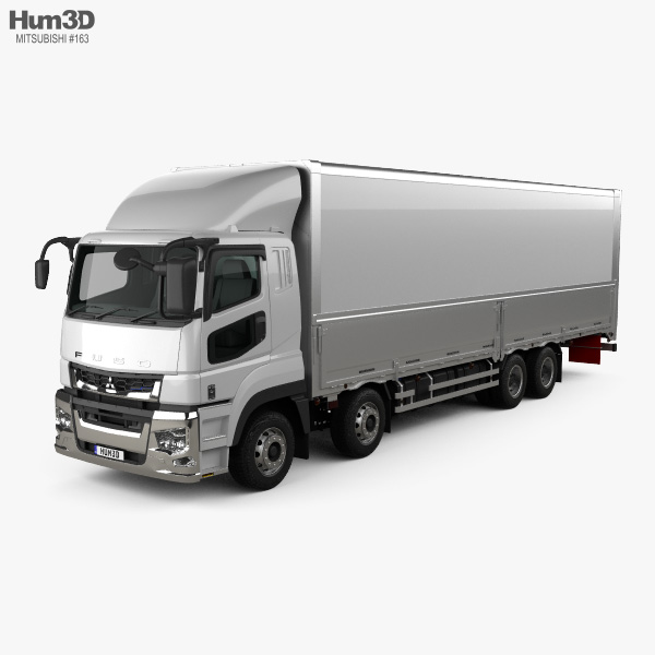 Mitsubishi Fuso Super Great Box Truck 4-axle 2019 3D model