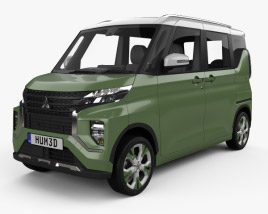 3D model of Mitsubishi Super Height K-Wagon 2019