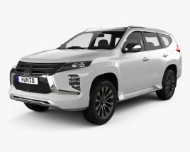 3D model of Mitsubishi Pajero Sport 2019