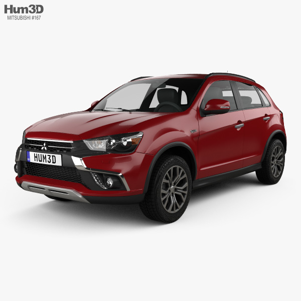 3D model of Mitsubishi ASX 2017