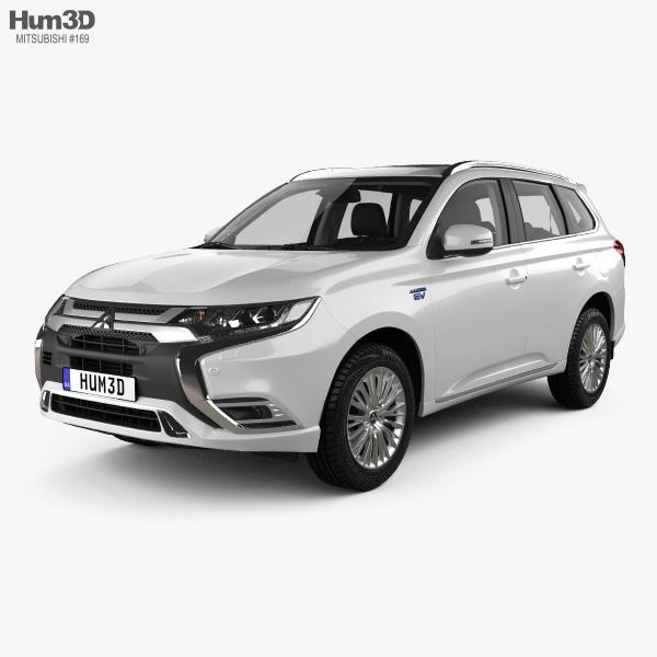 Mitsubishi Outlander PHEV with HQ interior 2018 3D model