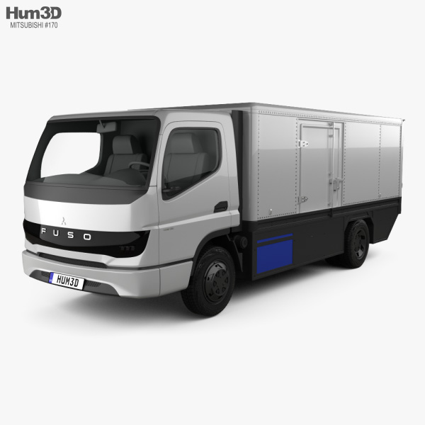 3D model of Mitsubishi Fuso Vision F-Cell Truck 2019
